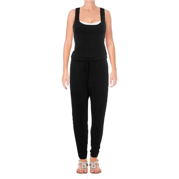 4376779d4f Becca by Rebecca Virtue Womens Twist And Turns Banded Jumpsuit Swim Cover-Up