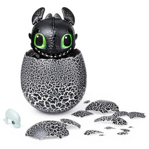 DreamWorks Dragons Hatching Toothless Interactive Baby Dragon - 6.7 x 8.2 x 8.9 inches