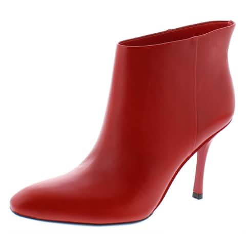 Calvin Klein Womens Mim Dress Boots Leather Ankle