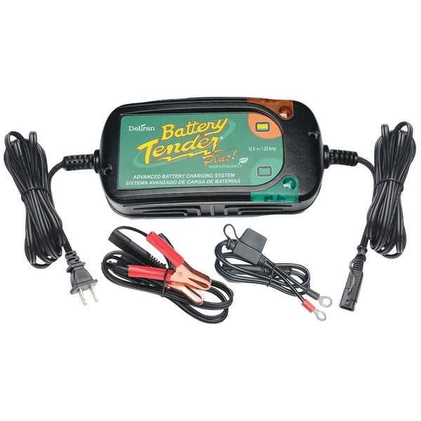Battery Tender 022-0185G-Dl-Wh 12-Volt 1.25-Amp Battery Tender(R) Plus High Efficiency
