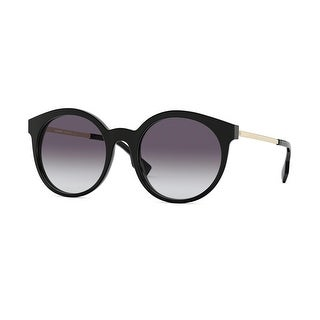 Link to Burberry BE4296 30018G 53 Black Woman Round Sunglasses Similar Items in Women's Sunglasses