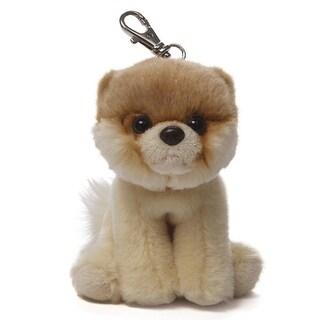 "5"" Itty Bitty Boo The World's Cutest Dog Children's Plush Stuffed Animal Backpack Clip #015 - Brown"