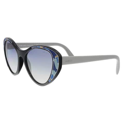 f30f0cb7b2576 Prada PR 14US LDM5R0 Black Cat eye Sunglasses - 55-18-140