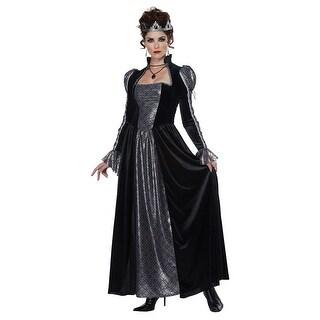 Womens Dark Majesty Queen Halloween Costume
