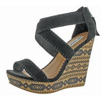 Not Rated Remi Women's Strappy Wedge Cork Sandals