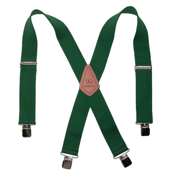 John Deere Men's Elastic 2 Inch Wide Clip-End Suspenders