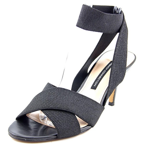 French Connection Luana Women Open Toe Canvas Black Sandals