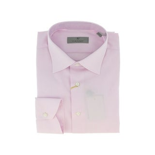 Canali Pink Grid Formal Shirts