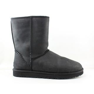 UGG Mens Minx Black Leather Snow Boots Size 17