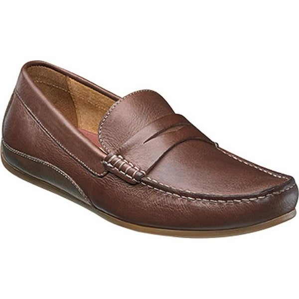 8caf93ddcdb Shop Florsheim Men s Oval Penny Driving Moc Cognac Full Grain Leather Suede  - Free Shipping Today - Overstock - 14047389