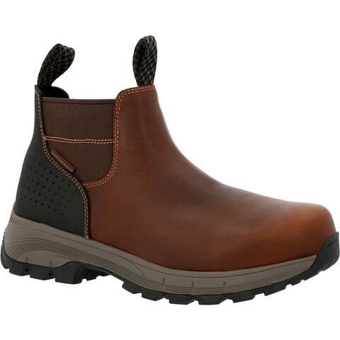 #GB00479, Georgia Boot Eagle Trail Waterproof Alloy Toe Chelsea Work Boot