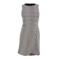 Lauren Ralph Lauren Women's Houndstooth Print Dress - Black/Ivory