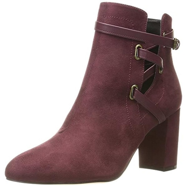 Daya by Zendaya Womens Keene Ankle Boots Faux Suede Cut-Out
