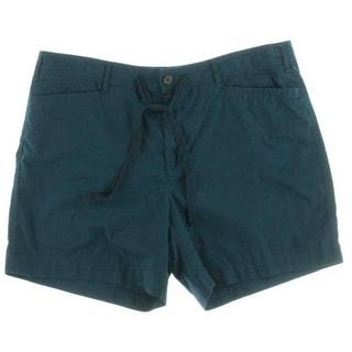 LRL Lauren Jeans Co. Womens Petites Twill Flat Front Bermuda, Walking Shorts - 14P