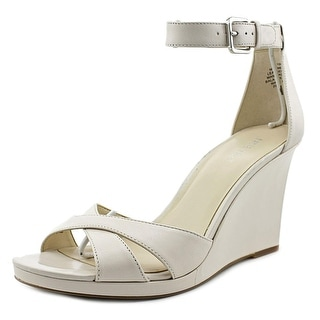 Nine West Medano Women Open Toe Synthetic Ivory Wedge Heel