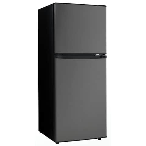 """Danby DCR047A1 19"""" Wide 4.7 Cu. Ft. Energy Star Free Standing Top Mount Refrigerator - Black Stainless Steel"""