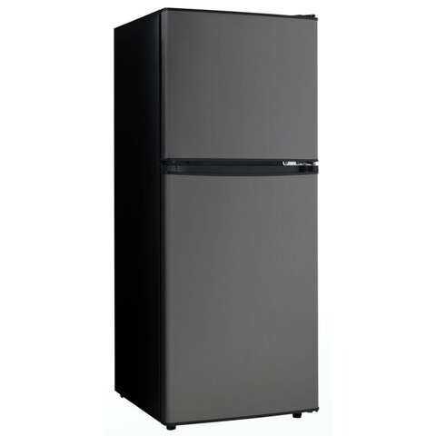 Danby DCR047A1 19 Inch Wide 4.7 Cu. Ft. Energy Star Free Standing Top Mount Refr - black stainless steel