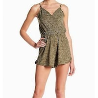 CAD Olive Green Womens Size Small S Surplice Neck Knit Romper