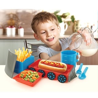 Chew Chew Train Dinner Set - Bowl, Plate, Fork, and Spoon