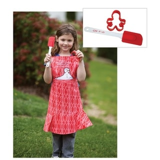 "18"" Red and Pink ""Family Get Together"" Children's Adjustable Chef's Apron"