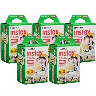 Fuji Instax Mini Instant Color Film (5-Pack) 100 Sheets