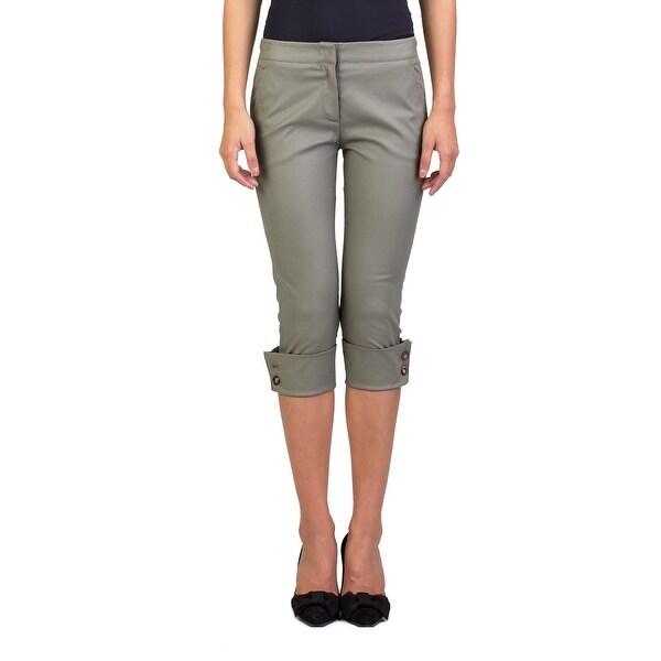 Prada Women's Cotton Capri Pants Olive Green