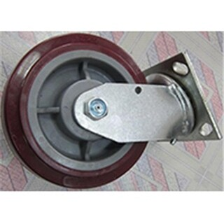 Mintcraft JC-P06 6 x 2 in. Polyurethane Plate Caster With Brake