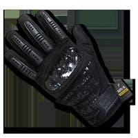 Carbon Fiber Combat Gloves, Black - Extra Large