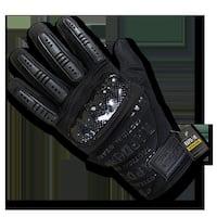 Carbon Fiber Combat Gloves, Black - Medium