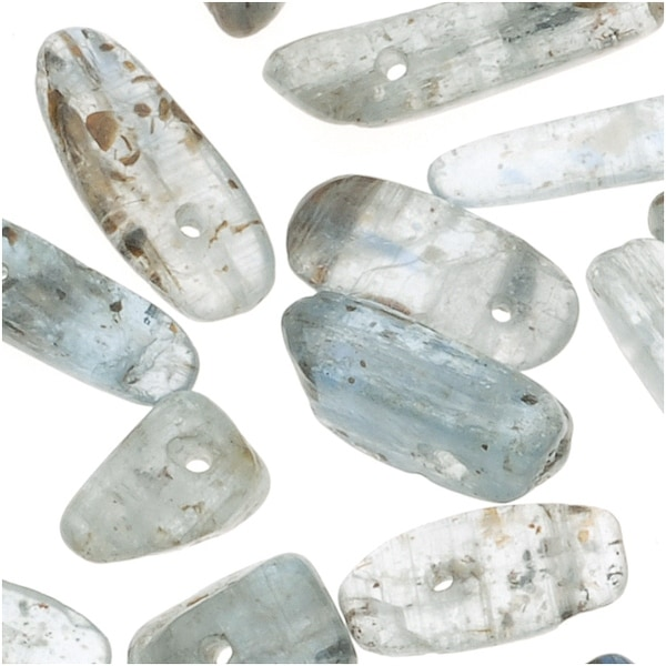 Blue Kyanite Small Gemstone Nugget Stick Pendants 5-16mm (50 Pieces)