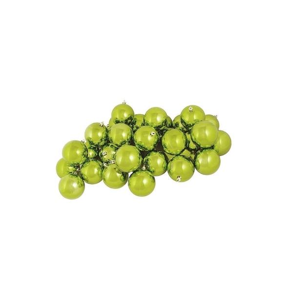"12ct Shiny Green Kiwi Shatterproof Christmas Ball Ornaments 4"" (100mm)"