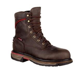 Rocky Western Boots Mens Iron Skull Composite Dark Brown RKW0204