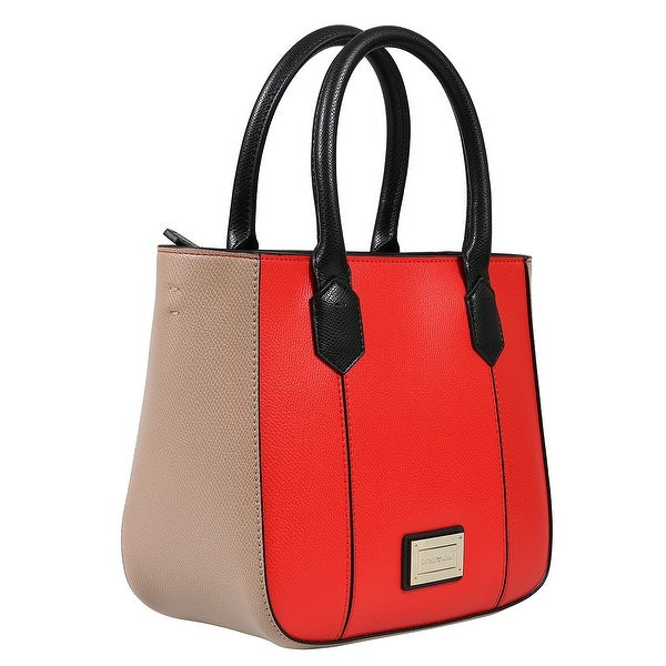 4c29afec88 Shop Emporio Armani Y3D088 YH21A 82271 Coral/Nude Satchel - On Sale ...