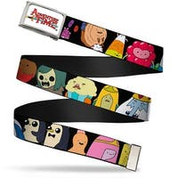 Adventure Time Logo Fcg White  Chrome Adventure Time Characters1 Black Web Belt