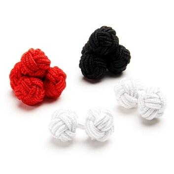 Basic Silk Knot Cufflinks