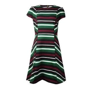 Michael Kors Women's Striped Cap Sleeve Dress