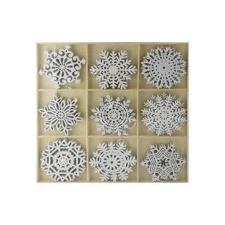 Link to SPC Ornaments Glittered Snowflakes In Tray 9Styles Similar Items in Christmas Decorations