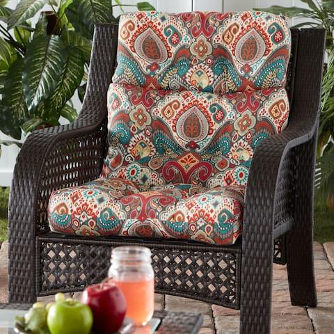Greendale Global Outdoor High Back Chair Cushion - 22 W x 44 L