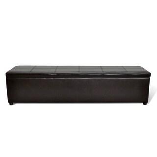 vidaXL Brown Storage Bench Large Size