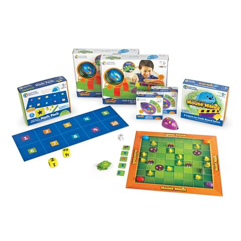 Code Go Robot Mouse Classroom St 2 Indiv 1 Mouse Math 1 Board Game - Multi