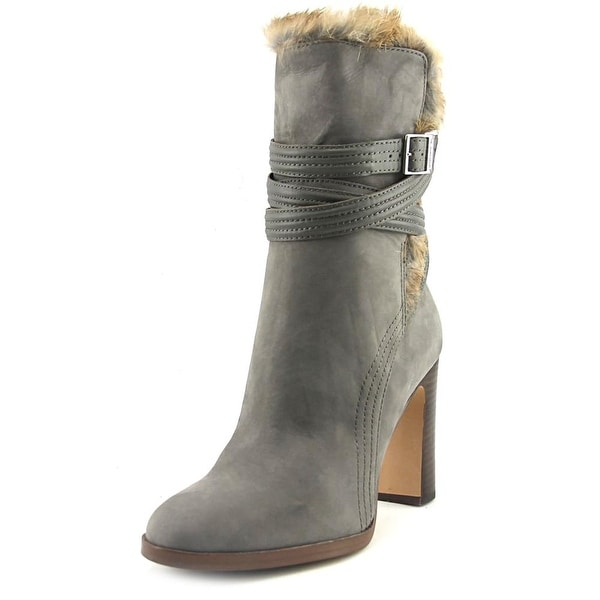 Louise et Cie Ynez Women Round Toe Leather Gray Ankle Boot