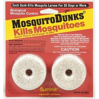 Summit Chemical 102-12 Insect Mosquito Dunks Pk/2