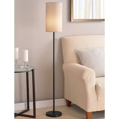 Freddie 56-inch Black Floor Lamp