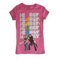 "Nickelodeon Girls Pink ""I Carly"" Character Print Short Sleeve T-Shirt"