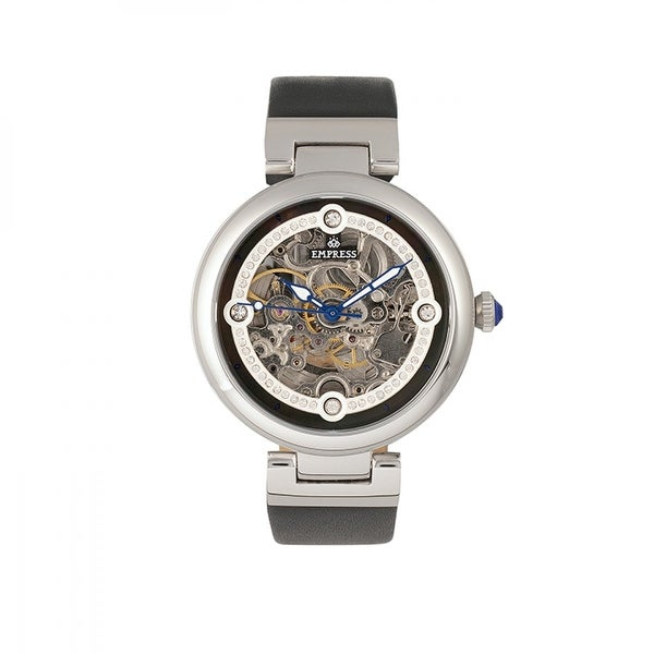 Empress Adelaide Women's Automatic Watch, Mother of Pearl Dial, Genuine Leather Band, Sapphire-Coated Crystal