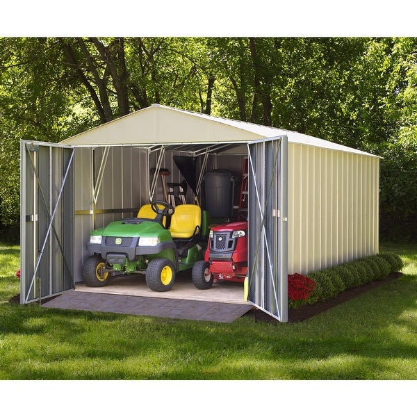 Arrow Commander Hot Dipped Galvanized Steel Shed Utility Building 10' feet Wide x 10' feet Long