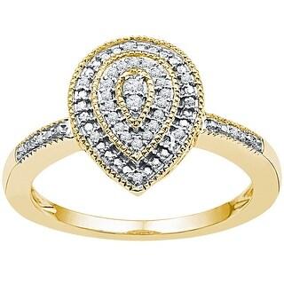 1/10Ctw Diamond Fashion Ring - White