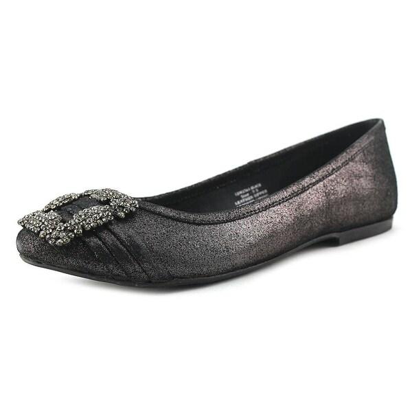 29 Porter Rd Noelle Shimmer Ballet Slipper Black Flats