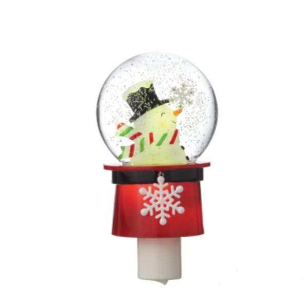 "6.75"" Christmas Traditions Shimmer Hat Night Light - CLEAR"