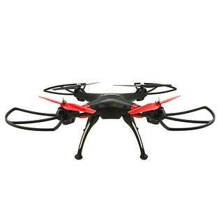 TechComm Raven RC Quadcopter Drone with 6-Axis Gyro & Anti-Interference